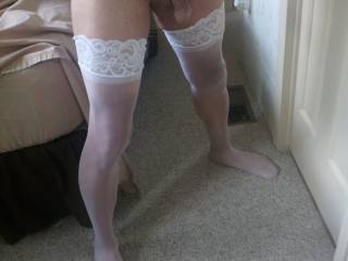 I love wearing white crotchless panties