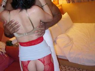 BBC kept teasing my wife, gave her a lot of foreplay before action !