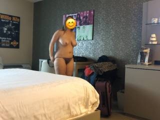 Taking it off! Wish there were a crowd around to see me get naked, use me like the slut I am