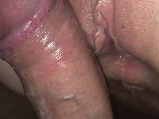 About to slide my hard cock into her tight wet pussy