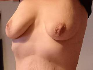 Wifes tits. Anyone like to cum on them