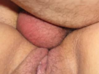 taking hubbys dick deep....