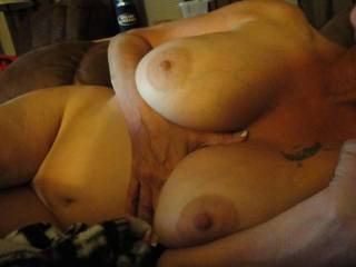 Her tits are sooo big and soft!