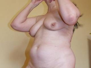 A fat hairy one I met on the side.  Just LUV big women.