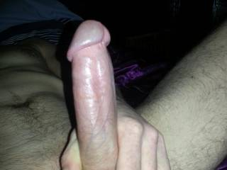A hard cock ready to be driven into my partners pussy