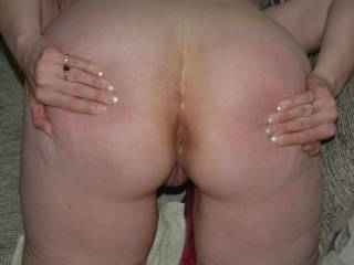 Marla spreading her ass