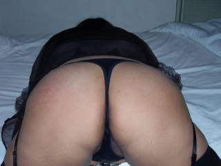 Latina in her thong for she asked me to fuck her ass for New Years