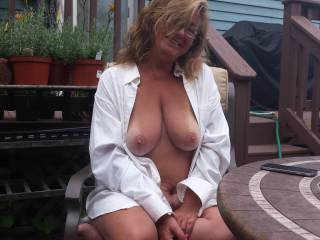 Wow cindy i was lookin at this pic my cock started to stiffen ,lol i was at a public pool ,needless to say i started to develop a tent in my shorts went in the bathroom stall and blew a huge load  some of wich landed on the wall ,i imagined it was your fantastic tits