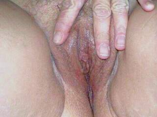Showing my wet pussy to a friend