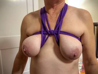 purple is her favorite color to be tied in