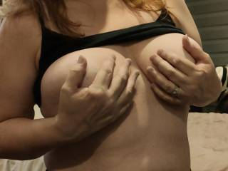 My 'married' nipples are so hard for hard for you.These tits are anticipating your love. Wanna play with them? Suck them? How about fucking these titties?