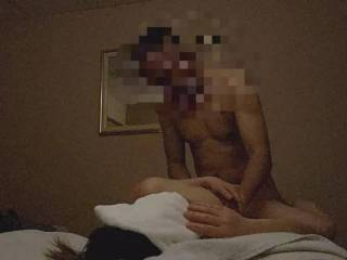 60 year old Anna finally let me fuck her! After giving her a sensual massage, she gave me head and we enjoyed ourselves in the massage room. She limited my camera angles so she doesn\'t get caught by her husband. Her Asian pussy was tight and hairy.