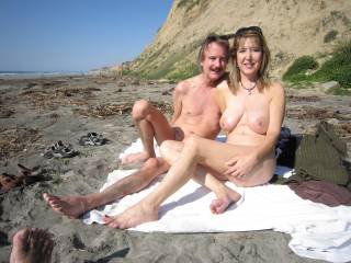 Hottt n' Sexy Couple!!  Love to cum across you two on my beach walk!  Got a feeling hours of hot erotic beach adventure would be sure to cum!  Very Hot you two, Love the fantastic pic, thanks!!
