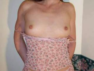 """Summer lingere...  exposing my """"SMALL"""", but """"VERY FIRM"""" 34B cups!"""
