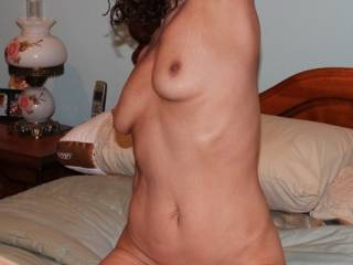 OMG !   How I would love to be under you with my very erect cock sliding into you beautiful tight pussy!