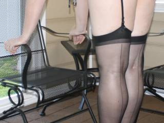 man those tits are so nice with those stocking legs those tits would be swinging very hard