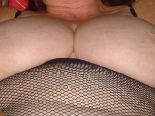 getting close now,nipples starting to go hard,would love a cock on each side about to splatter them