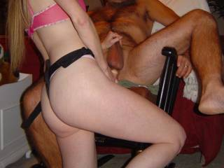 I bet she does! And so do I!!!  It's a good thing you two have together.  A well matched, drop dead gorgeous horny couple that likes to share. And for that, we thank you!  Dick looks good in your ass by the way...8P