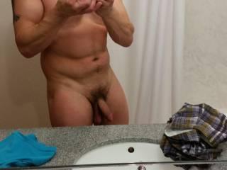 Very nice long thick cock and big balls.