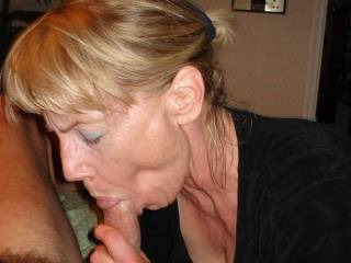 so fucking hot!!!! I love the way her face looks as she's suckin hard on that cock. wish she was sucking hard on my cock right now