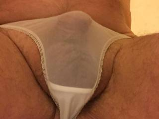 soft cock in silky see through panties