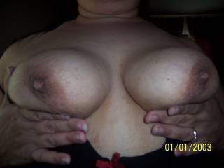 My wifes yummy tits