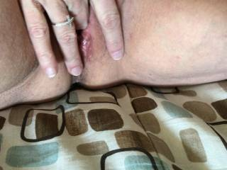 Old picture of playmate fingering her wet pussy
