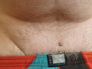 My piercings peeping over the top of my undies