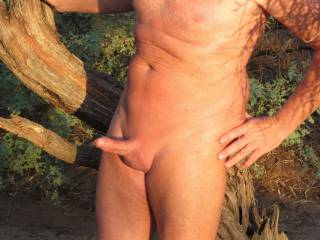 Being a nudist I love being nude outdoors. There's a field near my house that I like to take a walk in and occasionally jerk off.