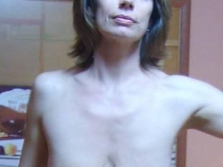My friend. Saggy MILF with empty tits