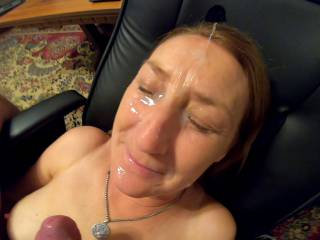 love to enjoy her face with cum covered, would you love add yours ?