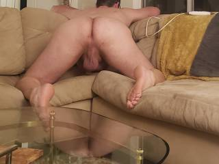 He about to get fucked with my strapon and a real cock from one of our friends