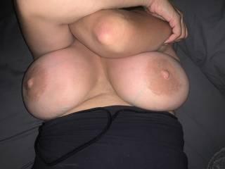 Wifes huge tits