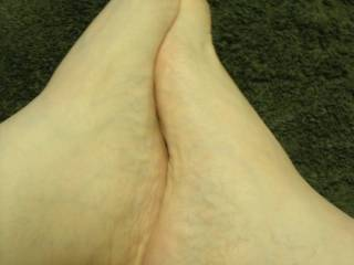 yes! my throbbing hot cock in between u'r sexy feet !! and my cum all over them bb!! just love u'r feet!!!