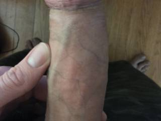 My dick with some pre cum.