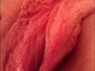 A closeup of my swollen pussy.