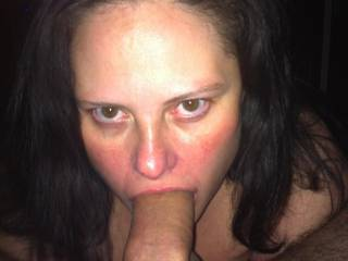 She did try to deep throat too. But she still gave some bombass head!! Any ladies wanna gimme a try send me a message ;)