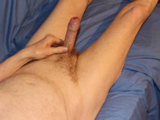 Now you have me erect with my veins bulging let's have some fun.