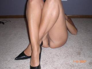 heels are great... barefoot is also good.. mmm i could work with either with THOSE legs! mmm