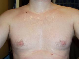 Wanted to feel some hot cum on my chest, but had no guy available