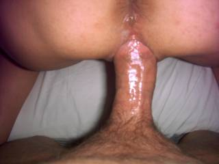 Oh yeah, you don't want to let that cock go, your lips are sucking it in!