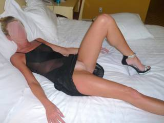 I'm not a girl but I would love to kiss my way up your lovely legs have you rest them on my shoulders as I bury my face in that fine pussy and taste your sweet juices