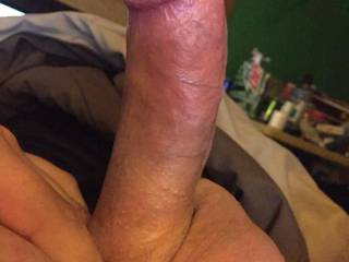 Nice fat cock with a nice mouth sized length and big balls - great posting.