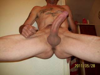 Getting ready to shower and she saw me naked and my COCK got hard. What would you do at that moment?