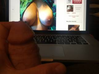 As soon as I saw blkmoonrising's photos, my  semi-erect penis got hard and I couldn't help it, I had to start masturbating