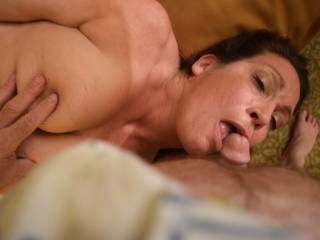 This plump, busty milf picked me up at the slots in Ballys casino. Guess she likes older guys. Put her on her back to suck me while I played with those huge tits
