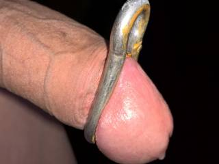 I got my cock a new toy, nice and tight.