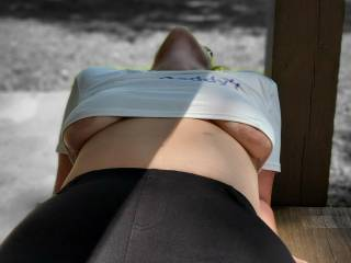 Out for a ride and we figured we would get some pictures at a public park. What would you have done if you came across her like this.