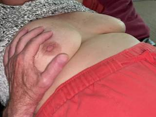 playing with wifes tits ---- enjoy