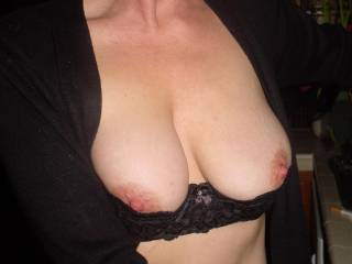 You're so generous! MILF tits, especially yours are gorgeous and these look like terrific fun. The black accents them quite nicely too.